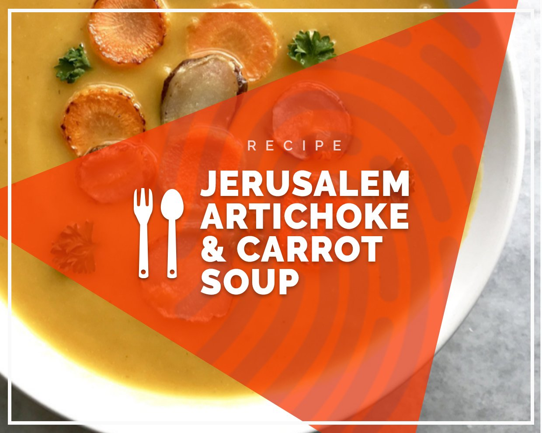 Jerusalem artichoke & carrot soup