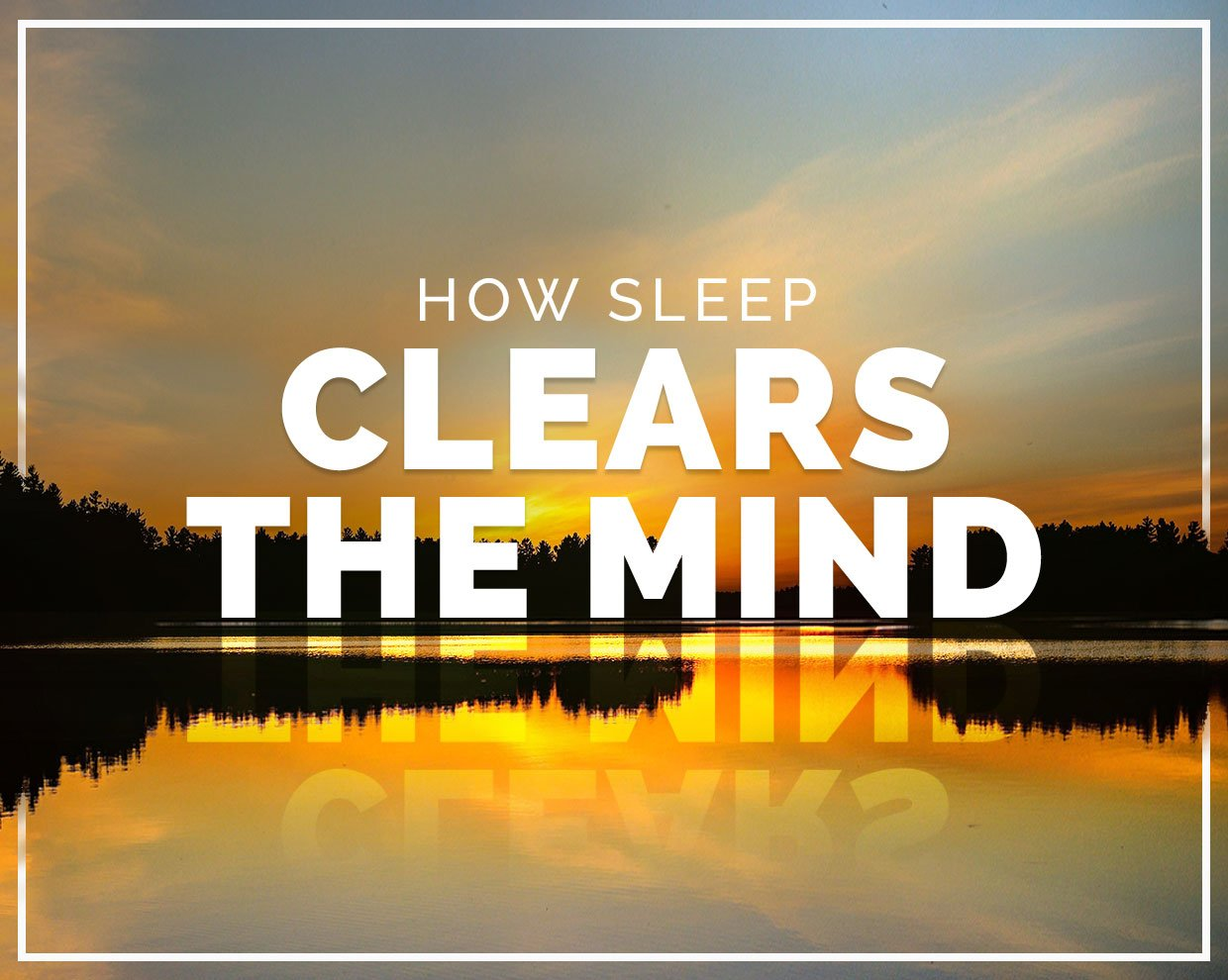 How sleep clears the mind