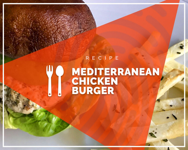 Mediterranean chicken burger
