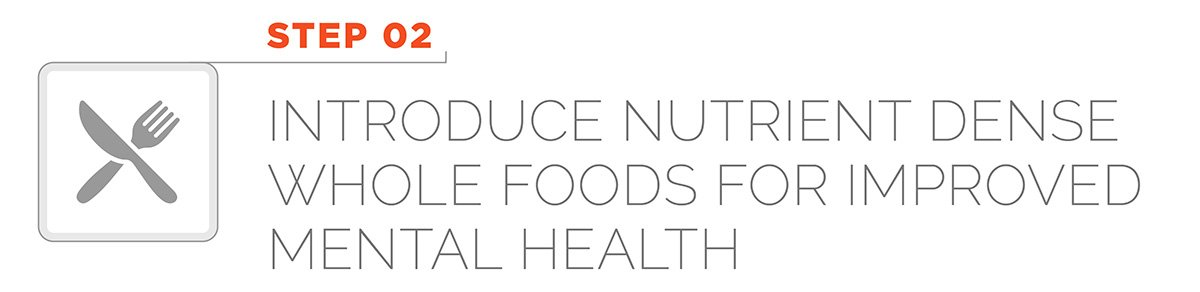 Step 2 - Introduce nutrient dense whole foods for improved mental health